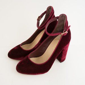 Shoe Dazzle Ulyssa Velvet Block Ankle Heels